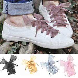 lace-Shoelaces-Flat-Silk-Satin-Ribbon-Sport-Shoes-Laces-Sneakers-Shoestrings-CHI