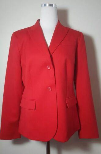 Pendleton Womens Blazer Jacket Coat Size 10 Red Be