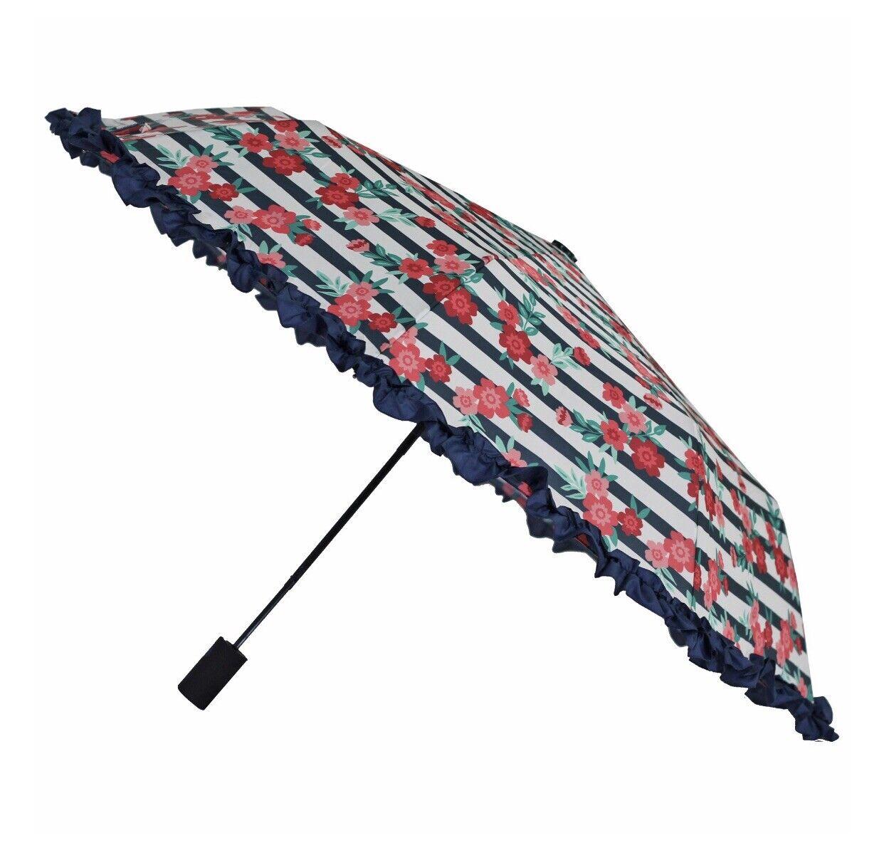 Misty Harbor Ladies Ruffle Automatic Umbrella (Like The pioneer Woman Style)