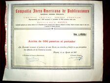 Companía Ibero Americana Publicaciones,Share 1927.Spain