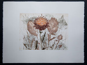 Georges-Vial-litho-signee-main-epreuve-d-039-artiste-fleurs-Artprice