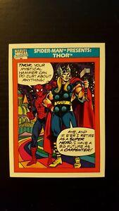 Spider Man Presents Thor - 1990 Marvel Universe Card #154