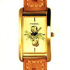 Fossil Just Married NIB Silver Tone Oblong Case Extremely Rare Unworn Watch $189