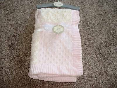 Kyle & Deena Minky Dot Blanket Pink Ivory Baby Infant Girls NWT NEW Boutique