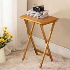 Folding Wood Portable Tray Table Stand TV Game Dinner Craft Snack Laptop Serving