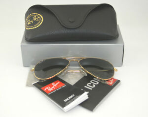 Ray-Ban-rb3025-Lunettes-de-soleil-Aviator-Classic-Gold-Frame-Polarized-Green