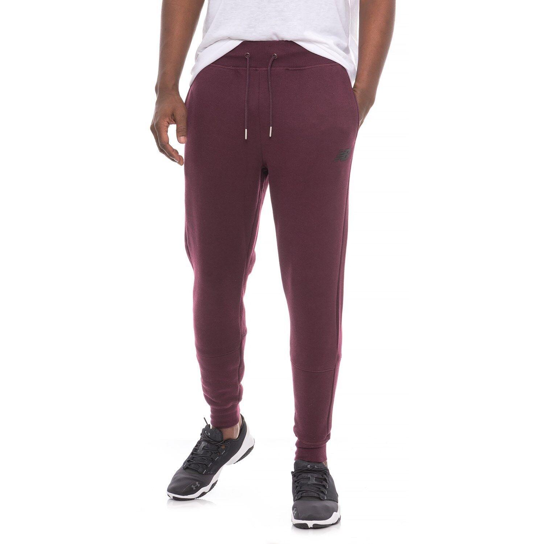 New Balance Mens Joggers XXL Maroon Red Sweatpants Athletic Warm Up Pants Fleece