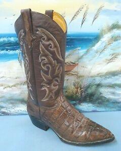 d00da651f6f Details about RUDEL alligator Skin brown Leather western boots men's size  US 8.5 E 8566