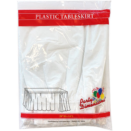 Plastic Table Skirt White