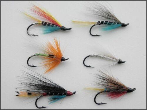 Hook Size 8 Single Hook Multi Pack UK FREE POST 6 Salmon Flies 6 Varieties