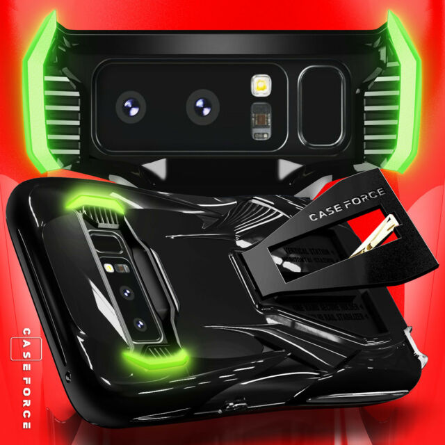 promo code a18e0 0fdcf Case Heavy Duty Military Grade Drop Protection Cover Black for Galaxy Note 8