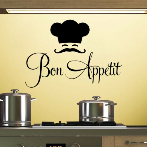 Home Decor Bon Appetit Quotes Wall Stickers Kitchen Decoration Diy Vinyl Home Decals Art Home Garden Ohioeyecareconsultants Com