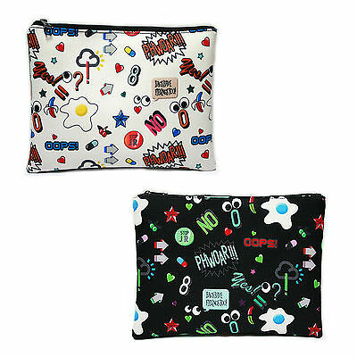 Korea Women NEW OOPS Clutch Cross Pouch Bag Handbag Purse Faux Leather Polyester