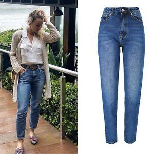 UK-Women-High-Waisted-Denim-Pants-Ladies-Casual-Mom-Boyfriend-Trouser-Jeans-6-16