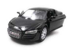 Audi-maqueta-de-coche-con-matricula-de-deseos-r8-auto-deportivo-negro-escala-1-34-39