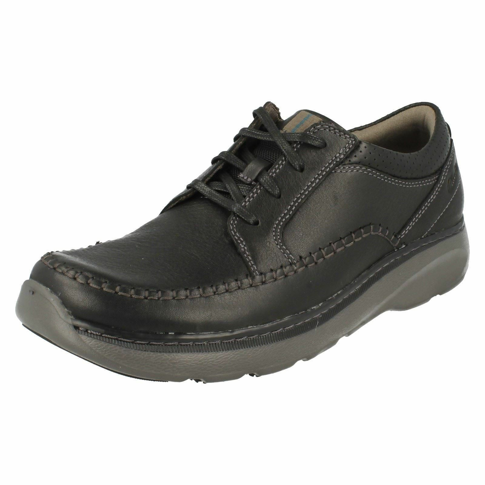 MENS CLARKS CHARTON VIBE BLACK LEATHER LACE
