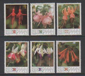 Isle-of-Man-1988-British-Fuchsia-Society-Flowers-set-MNH-SG-390-5