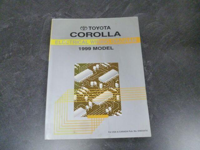 1999 Toyota Corolla Sedan Electrical Wiring Diagrams
