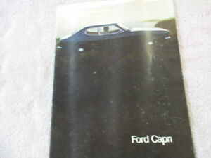 Details about ford capri mk1 australian sales booklet 12 pages,very  rare,collectors item