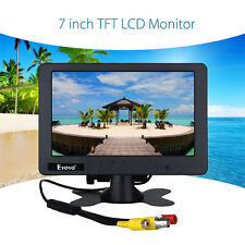"""Portable 1024*600 7"""" inch Full HD Car Video LCD Monitor BNC AV CVBS For Car TV"""