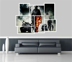 Huge-Collage-View-Army-Troops-amp-Tanks-Wall-Stickers-Film-Wallpaper-343
