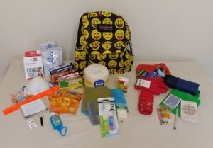 Details About Disaster Emergency Survival Bug Out Bag 72 Hr Kit With Water And Nutrition Child