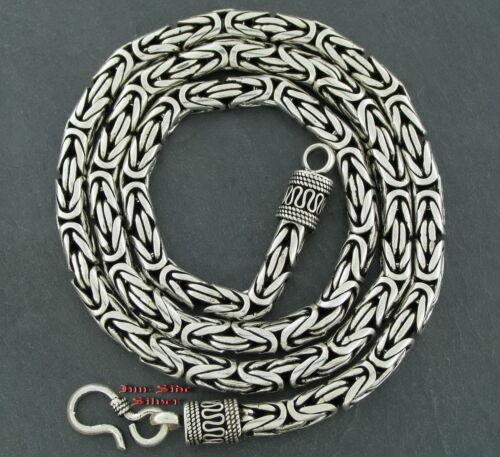 Königskette das Original 5mm 60cm Massiv Silber 925 Balikette Balichain Halskett