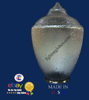 Outdoor Post Lamp Light Fixture Lens Globe Clear Acorn Polycarbonate Replacement