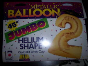NIP-Jumbo-2-with-Cap-45-034-Birthday-Graduation-Gold-Balloon-Party-Decorations