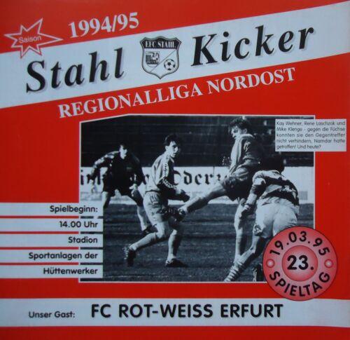 Programm 1994/95 Eisenhüttenstädter FC Stahl - RW Erfurt