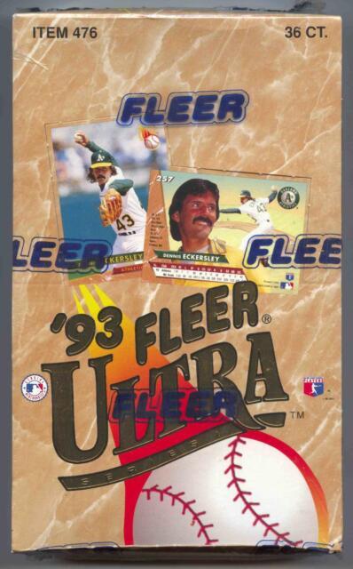 1993 Fleer Ultra Baseball Series 1 2 Boxes
