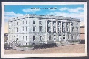 Vintage-Postcard-Post-Office-Jackson-Tennessee-C43
