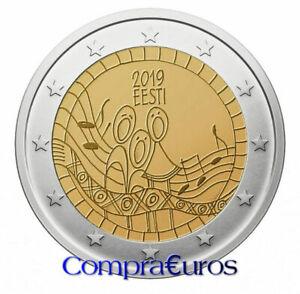 2-Euros-Conmemorativos-ESTONIA-2019-Festival-de-la-Cancion-Sin-Circular