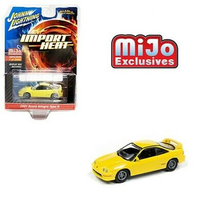 Johnny Lightning Acura Integra Type R Yellow w// Carbon Fiber 97 JLCP7345 A 1//64