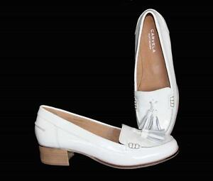 c0d40886549 Kurt Geiger LEXIE Patent Leather White Loafer Shoes Tassels W-9 NEW ...