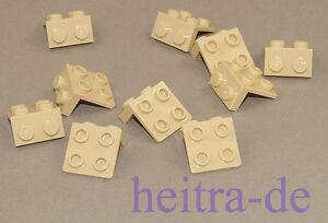 LEGO - 10 x Winkelplatte, Konverterplatte Tan / Sand 1x2 auf 2x2 / 44728 NEUWARE