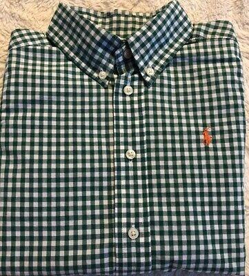 Polo Ralph Lauren Boys Small Pony Button Down Long Sleeve Shirt