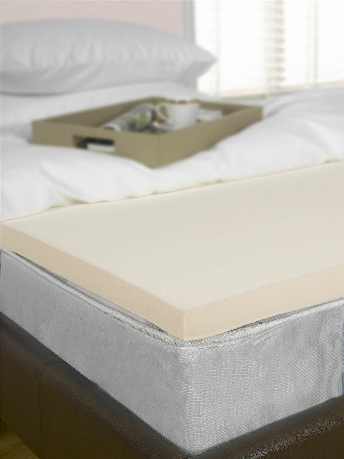2  European King Bed Größe Memory Foam Mattress Topper Orthopaedic (160x200cm)