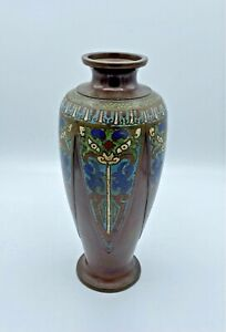 Antique Tapering Japanese Bronze Baluster Vase