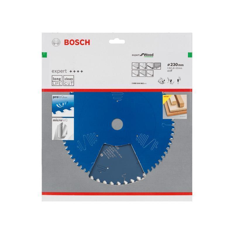 Bosch Hm-Sägeblatt 230x2,8x30 Z48 2608644063 Expert for Wood, für Handkreissägen