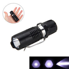 Mini 7W CREE Q5 LED 1200lm  Flashlight Torch Light 16340/CR123 lamp WATERPROOF