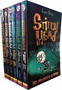 Stitch-Head-Collection-Guy-Bass-6-Books-Set-Ghost-of-Grotteskew-Monster-Hunter
