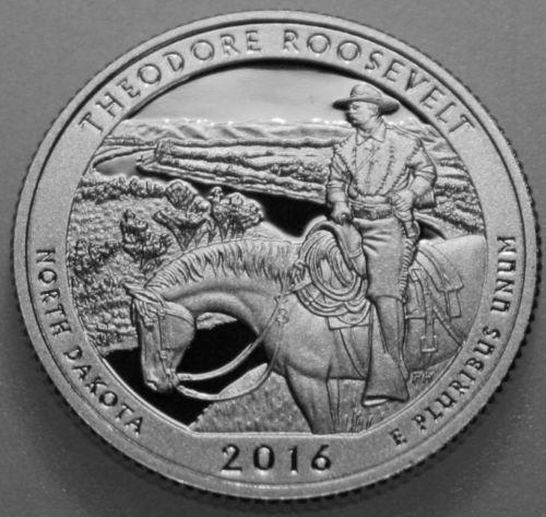 2016-S America The Beautiful Quarter Clad Proof Theodore Roosevelt TR
