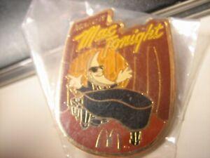 Vintage McDonald's Make It Mac Tonight Lapel Pin Playing Piano Golden Arches