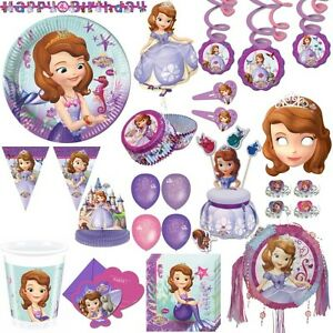 disney sofia la premi re f te enfants anniversaire f te kit d co princesse mauve ebay. Black Bedroom Furniture Sets. Home Design Ideas