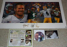 GREEN BAY PACKERS BRETT FAVRE 4 GREG JENNINGS AUTOGRAPHED 421 Goralski Litho COA