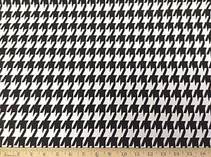 Discount fabric premier prints large houndstooth black and for Cheap black and white prints