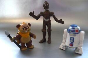 Humoristique Figurine Ancienne Star Wars / Lucas Film / R2d2 - Ewoks - C3po