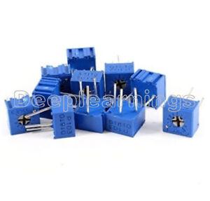10 Stks 3362 P 10K ohm 3362P-103 High Precision Variable Resistor Potentiometer
