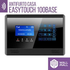 KIT ANTIFURTO CASA ALLARME TOUCH  COMBINATORE GSM WIRELESS EASYTOUCH 100BASE